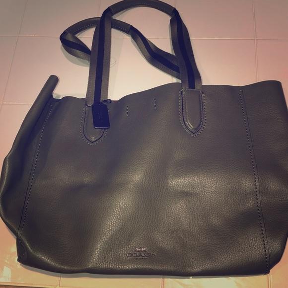 Coach Handbags - Coach olive green & varsity stripe tote - BNWT